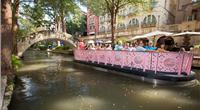 Each of the Lake Assault river barges on the San Antonio River Walk can be configured and modified in a range of floor plans to support touring, dining, commuting, entertaining, and other applications.  (Lake Assault Boats)