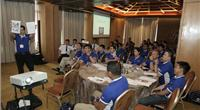 Kevin Menon conducting wellness workshop during recent Wallem Fleet Officers' Meeting in Manila. Photo: Wallem