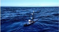Wave Glider with BGAN dome, two cameras and additional sensors (Photo: Liquid Robotics)