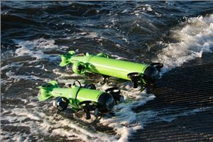 Two of Aquabotix's commercial grade UUVs – Endura and Hybrid (Photo: Aquabotix)