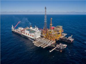 Allseas' planned vessel, to be called Amazing Grace, will be a larger version of the firm's existing Pioneering Spirit ship, which removed Shell's Brent Delta platform in the North Sea last year (pictured). (Photo: Allseas)