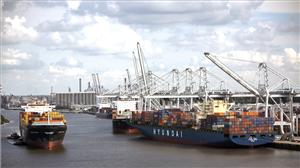 In February, the Port of Savannah moved 330,539 twenty-foot equivalent container units. (Photo: Georgia Ports Authority / Stephen B. Morton)
